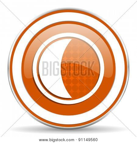 moon orange icon sleep sign