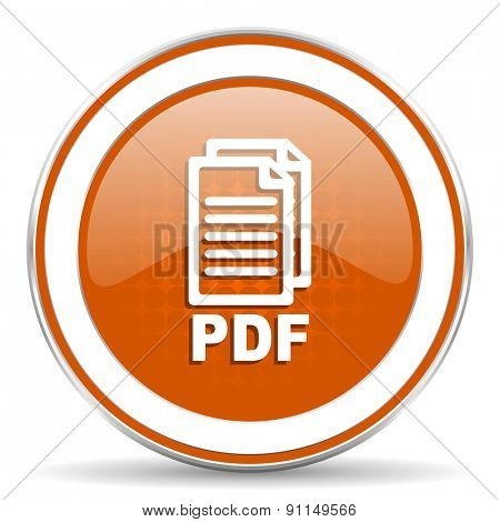 pdf orange icon pdf file sign