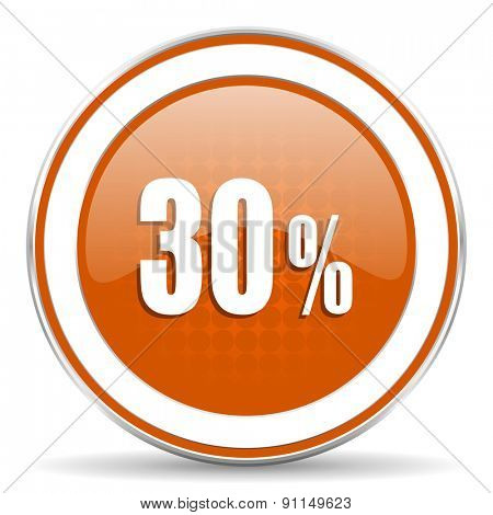 30 percent orange icon sale sign