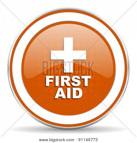 first aid orange icon