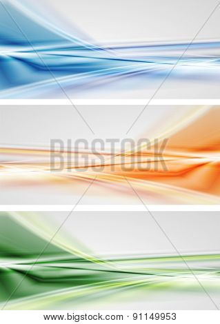 Abstract colourful banners