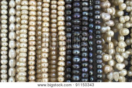 Many  Necklaces Of  Pearl