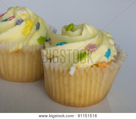 Yellow Cupcake Duo