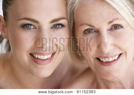 Portrait Of Mother With Adult Daughter