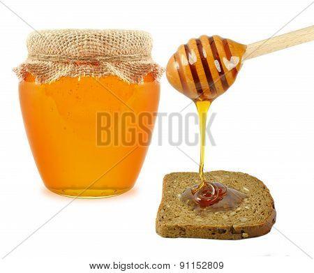 Honey with bread