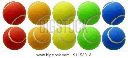 tennis balls set, vector