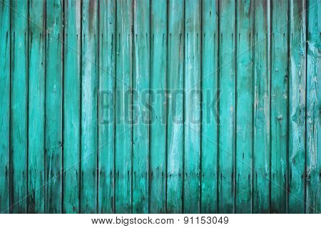 blue painted old wooden wall, vector