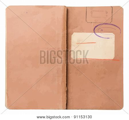 old note book, vector