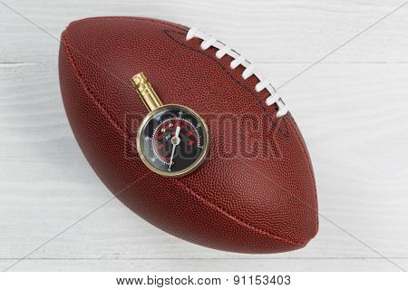 American Football Being Tested For Proper Inflation Of Ball