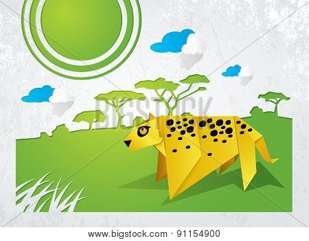 Leopard Origami
