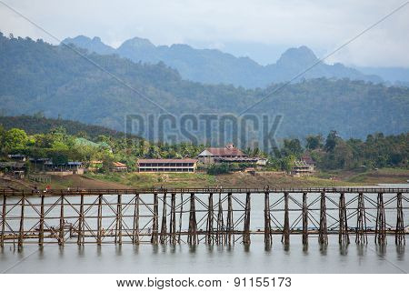Bridge over the river Kwai in Kanchanaburi, Thailand