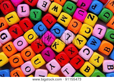 multicolor letters background