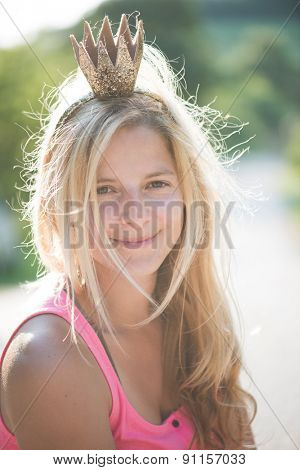 Summer princess wearing crown