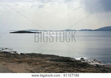 Ocean view with cloud atmosphere
