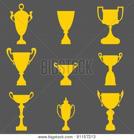 Trophy Cup Icons.