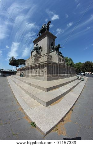 Garibaldi Monument In Rome