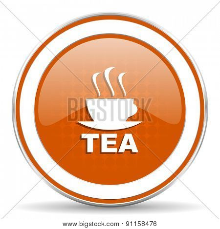 tea orange icon hot cup of tea sign