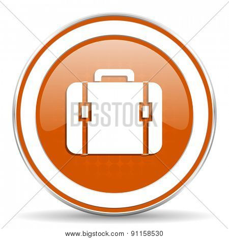 bag orange icon luggage sign