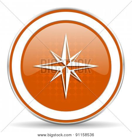 compass orange icon