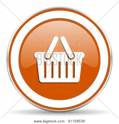 cart orange icon shopping cart symbol