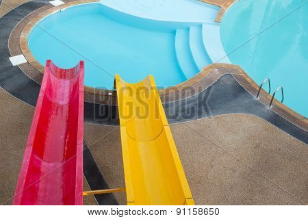 Slider For Adult In The Public Water Park