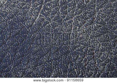 Close Up Of Blue Leather Texture