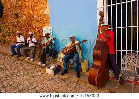 Street musicians in Trinidad, Cuba