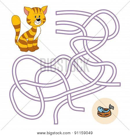 Maze Game (cat And Fish)