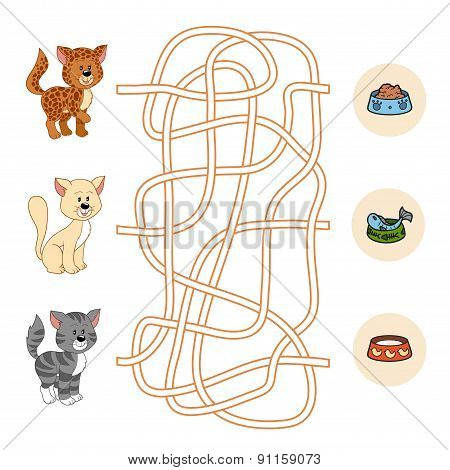 Maze Game (cats And Food)