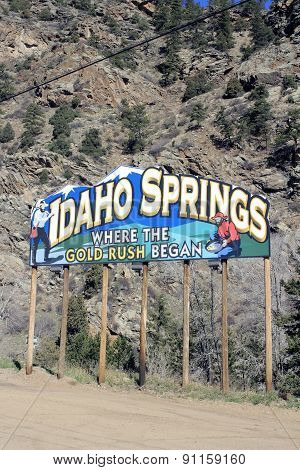 Idaho Springs Billboard Along I-70