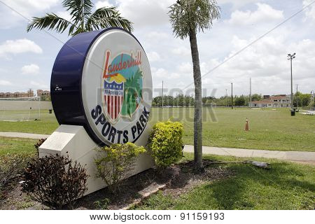 Lauderhill Sports Park Sign