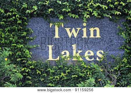 Twin Lakes Neighborhood Entry Sign