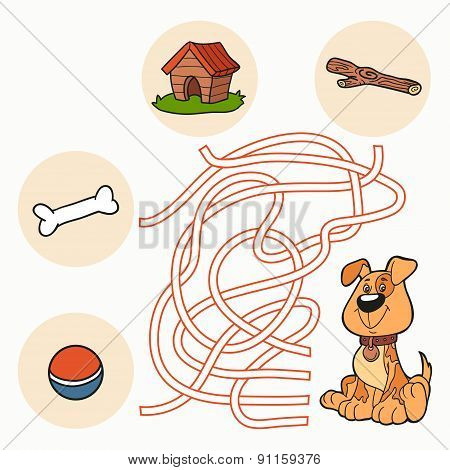 Maze Game: Help The Dog Get To Food