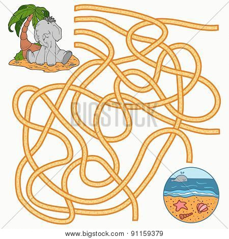 Maze Game For Children (elephant)