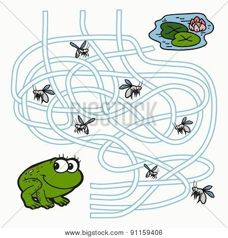 Maze Game For Children (frog)