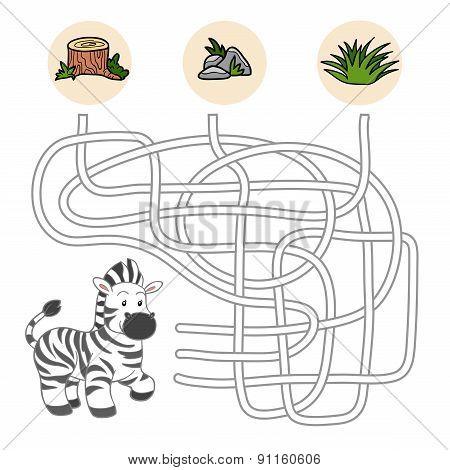 Maze Game (zebra)