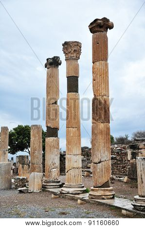 The remains of the Basilica at Ephesus
