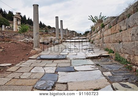 A paved street at Ephesus