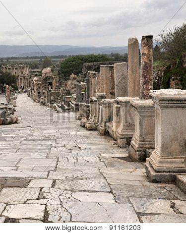 The Curetes street - the city's main street