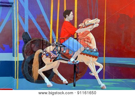 Street art carousel