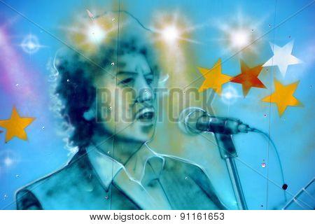 Street art Bob Dylan