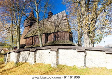 wooden church, Hervartov, Slovakia