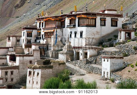 Lingshed Gompa - Buddhist Monastery In Zanskar Valley