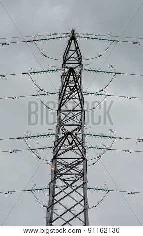 Close Up View Of An Electricity Pylon