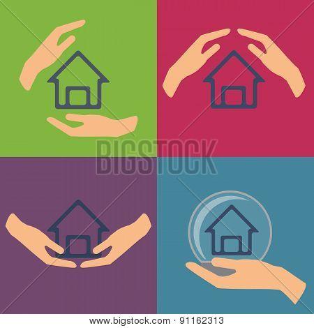 Home insurance vector illustration