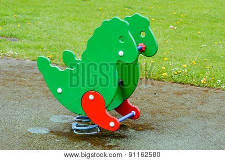 Outside Dragon Playground Ride