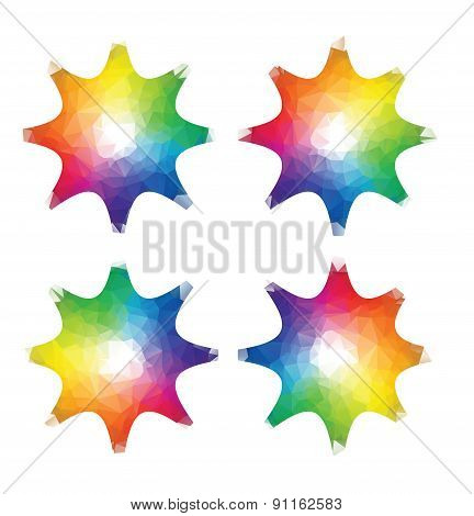 color stars, spectrum in triangle style
