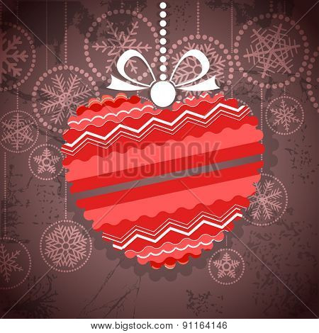 Vintage style greeting card with ornamented heart. Raster version