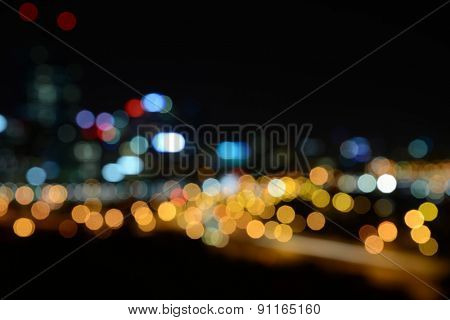 Photo of bokeh on black background