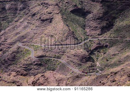 Aerial View of an Asphalt Road